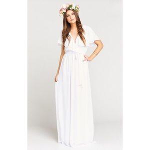 SHOW ME YOUR MUMU AUDREY MAXI DRESS WHITE SZ LG